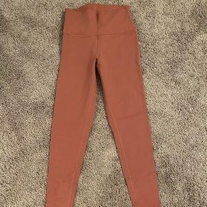 Alo leggings size small - color: rose